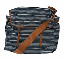 Ralph Lauren RRL Vintage Blue Canvas Leather Messenger Shoulder Bag New $495