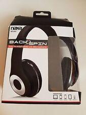 Naxa NE-943 Over-Ear Headphones with Mic; Padded, Adjustable, Wired - Black