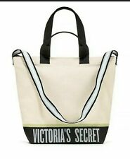 VICTORIA'S SECRET TOTE COOLER | INSULATED CANVAS LARGE SHOULDER BAG ZIP LOGO VS