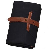 Japanese Bonsai Tools Roll Bag Canvas Leather Bonsai Tool Kit Set Storage Case