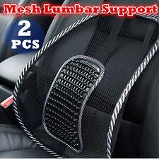 2x Mesh Back Rest Lumbar Support Office Chair Van Car Seat Home Pillow Cushion