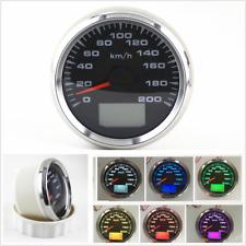 0~200km/h Speedometer Gauge Tuning LCD Odometer 7 Colors Backlight GPS 85mm