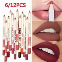 6 PCS/Set Waterproof Lipstick Lip Liner Long Lasting Matte Lipliner Pencil Pen