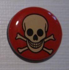 Gift Poison Totenkopf Skull 2,5 cm Magnet Pin NEU (A52v)
