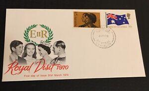 Australia * 1970 Fdc Queen Elizabeth  Royal Visit
