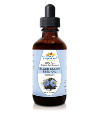 100% Pure Premium Organic Black Cumin Seed Oil 4oz - Cold Pressed Nigella Sativa