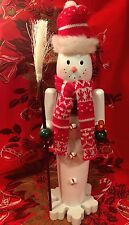 Christmas Nutcracker Snowman Nutcracker Peppermint Candy DECOR Snowflake 15""