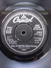 "The Wings (The Beatles) - Mull Of Kintyre 7"" Vinyl PROMO Capitol R 6018 (1977)"