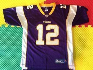Percy Harvin Minnesota Vikings #12 Reebok Purple Jersey Youth Size L 14-16