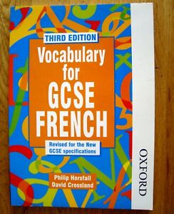 OXFORD Vocabulary for GCSE FRENCH Book (Third Edition, Paperback 2014)
