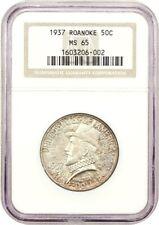 1937 Roanoke 50c NGC MS65 - Silver Classic Commemorative