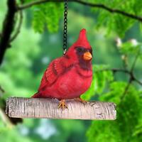 Mini Red Cardinal Bird Ornament On A Tree for Outdoor Indoor Use,Tree Statue