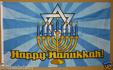 Happy Hanukkah flag 3'x5' banner Menorah Star Of David Jewish Holiday Candles