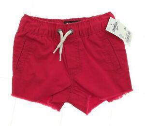 Osh Kosh B'gosh Infant Frayed Hem Shorts with Elastic Waist and Drawstring