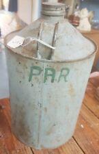 Vintage Paraffin tin oil can petrol chemical Industrial prop garage par