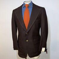 NEW Vtg 60s 70s OAKMONT Blazer POLYESTER Sport Coat Suit Jacket Mens 46 Long NOS