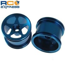 GPM Racing Losi Mini-T Aluminum Blue Front 5 Star Spoke Wheels (2) SMT0503F/L06