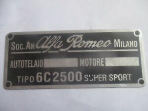 Alfa Romeo Nameplate 6C 2500 6C2500 6 C Super Sport s61