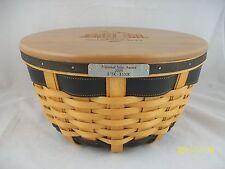 Longaberger 2005 National Sales Leader Ware Basket w Engraved Lid Signed
