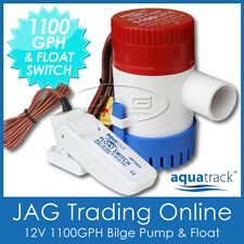 KIT AQUATRACK 1100 GPH BILGE PUMP & FLOAT SWITCH - Marine/Boat/Water/Submersible
