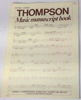 Thompson Music manuscript book 32 page 12 stave composition
