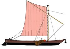 HARENER EMSPÜNTE, Segelschiff, Frachtschiff (1900). Modellbauplan