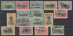 """CZ7800/ BELGIAN CONGO – 1894 / 1909 """"TAXES"""" CLASSIC LOT – CV 195 $"""