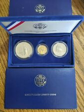 1986 Statue Of Liberty 3 Coin Set:  $5 Gold, $1 Silver, 50c Proof