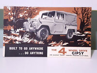 The 4 Wheel Drive Gipsy! Vintage British Motor Corporation Advertising Card!