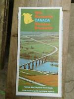 NEW BRUNSWICK CANADA HIGHWAY MAP REGIONAL TOURIST GUIDE 1973 VINTAGE TRAVEL