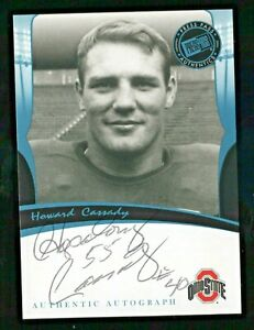 Howard Cassady 2006 Press Pass Legends Auto Autograph Ohio State 1955 Heisman