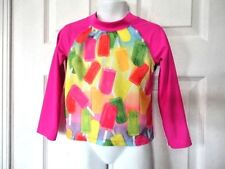 New ListingChildren's Place 1989 sz 4T Pink Popcicles Sun Cover-Up Water Top L/S Beach Swim