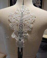 light ivory floral cotton lace applique bridal wedding bolero lace motif By pcs
