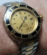 Omega seamaster PreBond  professional Solid 18k Bezel Men Watch with box