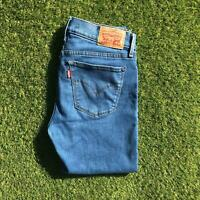 LEVIS 710 Womens Jeans Size 28 x 30 Super Skinny Mid Blue Stretch