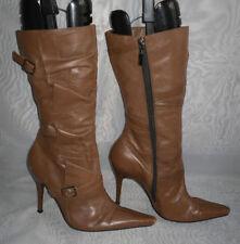 River Island Zip Patternless Slim Heel Boots for Women