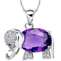 Filigraner Elefantenanhänger mit Diamanten aus Sterlingsilber