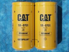 2 NEW CAT 1R-0751 FUEL FILTERS SEALED MADE IN USA CATERPILLAR 1R0751 OEM
