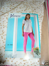 pigiama VENERE mezza manica aperto pantalone lungo art 7033 Tg 48 SETA/SABBIA