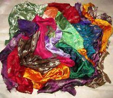 LOT BANARASI Antique Vintage Sari Fabric 1 KG (1000 GMS) CRAFT 9 DAY DELIVERY NR