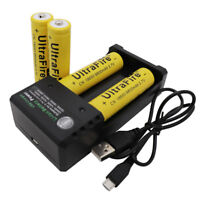 4pcs 18650 9800mAh Battery 3.7V Li-ion Rechargeable Batteries with USB Charger