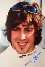 Fernando Alonso firmado 12x8, F1 Renault retrato 2004