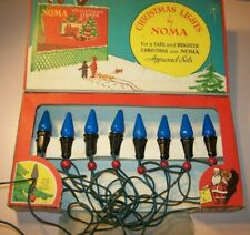 Vintage Noma Christmas Tree Ge Lights, C6, with Berry Beads, with Box