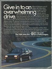 1986 VOLKSWAGEN JETTA GLI advertisement, VW Jetta sedan