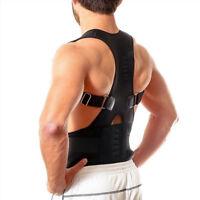 Unisexe Correcteur De Posture Magnétique Ceinture Soutien Dos Taille 44 BS