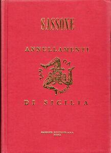 """Italy Sassone 1950  """"Annullamenti di Sicilia"""" Book"""