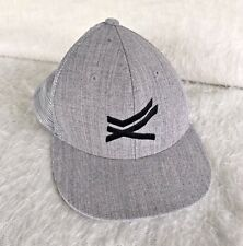 Gray Decky 6 Panel Flat Bill Trucker Constructed Rear Mesh Snapback Cap Hat 1052