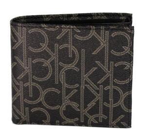 Calvin Klein Ck Men's Classic Leather Coin Case Id Wallet Black 79463