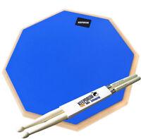 """keepdrum  DP-BL12 Drum Practice Pad Blau 12"""" + Drumsticks"""