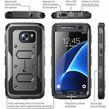 Galaxy S7 ARMORBOX Case Cover Belt Clip Holster Hard Shell Bumper Black,    sw